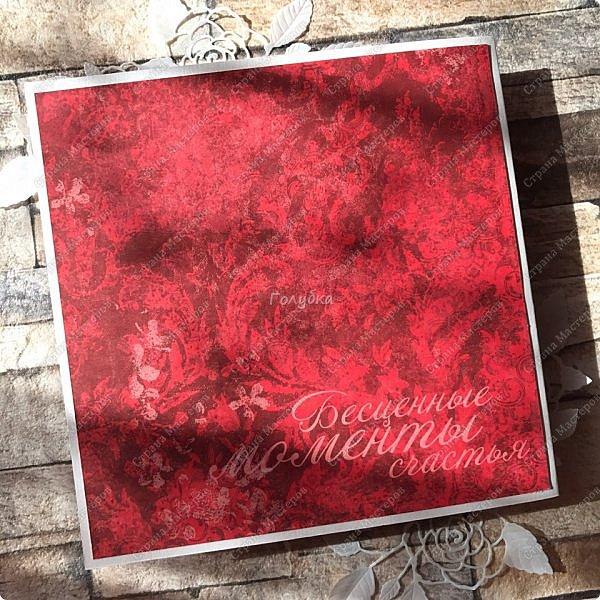 На днях попросили сделать открытку на юбилей, а цвет забыли уточнить:) Я сделала в благородно розовом цвете:)) И как, это бывает... через пару дней мне написали про цвет:) Оговорюсь, заказчик не знал, что розовая уже готова. Время позволяло и я сделала вторую, красную:) А какую в итоге заберут, не знаю пока:))) фото 10