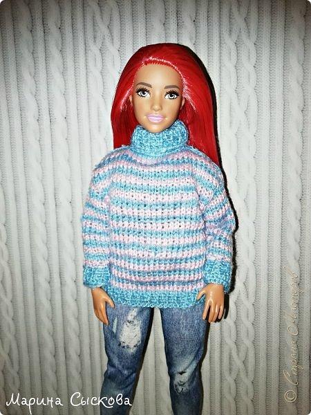Связала свитерок для пухлика Доминики  фото 7