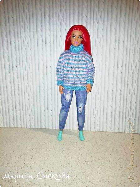 Связала свитерок для пухлика Доминики  фото 5