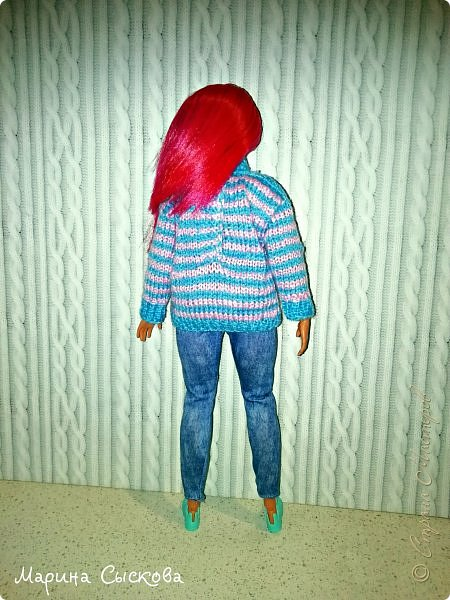 Связала свитерок для пухлика Доминики  фото 6