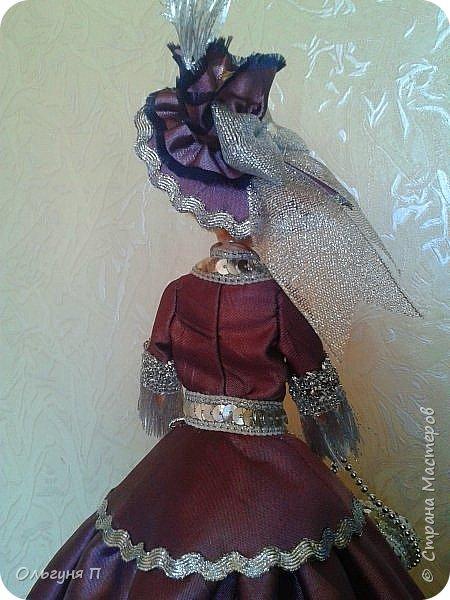 """Добрый день, дорогие соседи! Заказали мне куклу-шкатулку """"Какую-нибудь барышню в шляпе""""...Не люблю я этих """"барышень"""" делать,но...с заказчиком не поспоришь....Вот что получилось... фото 5"""