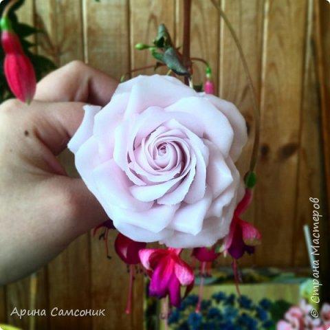 Роза из полимерной глины без тонировки)  фото 1