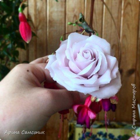 Роза из полимерной глины без тонировки)  фото 2