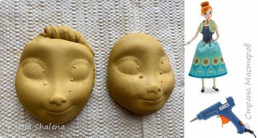 Сегодня я хочу покажу вам, как легко можно сделать молд своими руками+лепка лица с помощью клея и куклы за 5 мин.  Для работы нам надо:  пластилин (или глина); подсолнечное масло; ватные диски 1шт; клеевой пистолет; кукла. Вот и все:) Всем хорошего дня!  фото 1