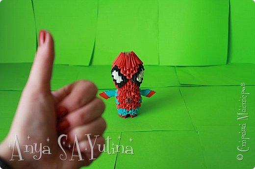 Здравствуйте) Сейчас я вам расскажу и покажу, как делать этого человека паука техникой модульное оригами. Чтобы посмотреть урок, спуститесь чуть ниже по странице:) фото 5