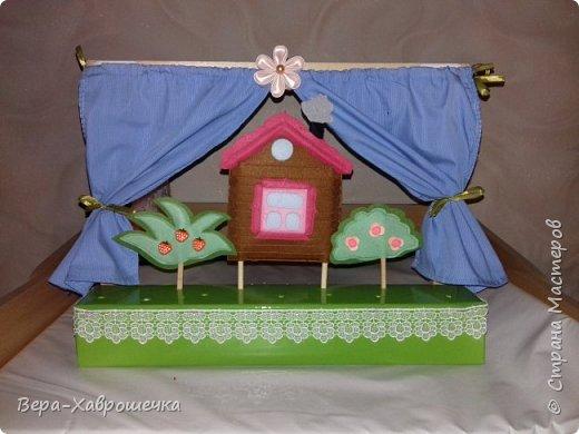 """Здравствуйте! Хочу показать наше выполненное домашнее задание для детского сада) Это кукольный театр по сказке """"Репка"""".    Событие совпало с желанием опробовать такой материал как фетр.  """"Декорации"""")  фото 1"""
