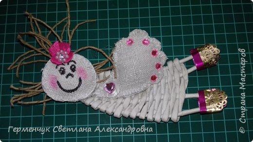 Всем добрый день !!!  Предлагаю вашему вниманию   плетеных из  трубочек бумажных  куколок  ангелочков !!! фото 3