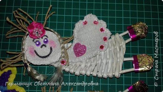 Всем добрый день !!!  Предлагаю вашему вниманию   плетеных из  трубочек бумажных  куколок  ангелочков !!! фото 4