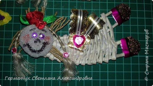 Всем добрый день !!!  Предлагаю вашему вниманию   плетеных из  трубочек бумажных  куколок  ангелочков !!! фото 7