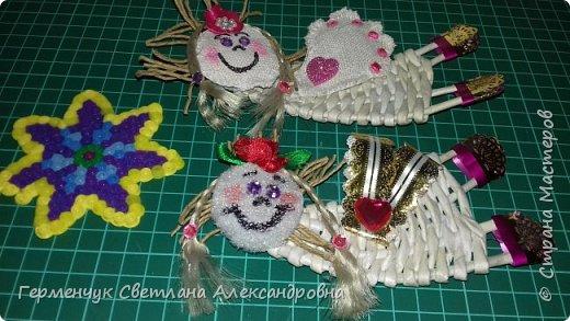 Всем добрый день !!!  Предлагаю вашему вниманию   плетеных из  трубочек бумажных  куколок  ангелочков !!! фото 8
