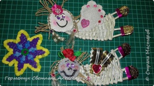 Всем добрый день !!!  Предлагаю вашему вниманию   плетеных из  трубочек бумажных  куколок  ангелочков !!! фото 10