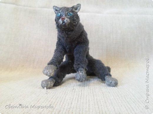 Кот в смешанной технике фото 5