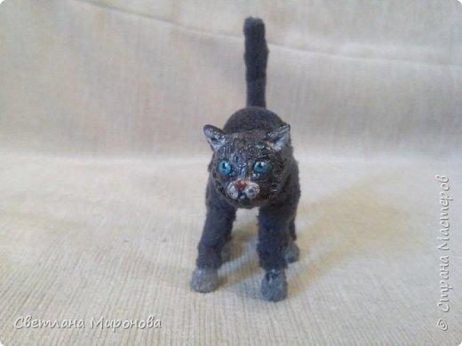 Кот в смешанной технике фото 9
