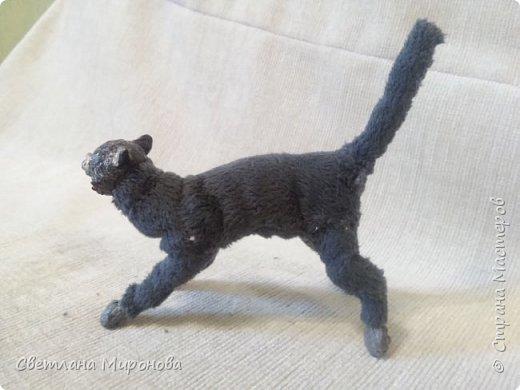 Кот в смешанной технике фото 3