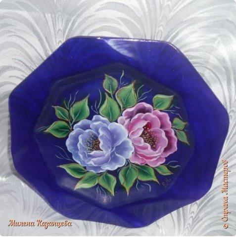 Роспись по стеклу и керамике фото 1