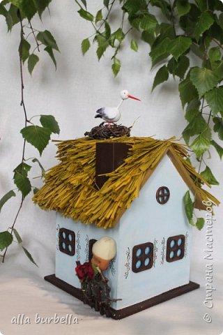 Декоративный домик миниатюра своими руками. Часть 3.