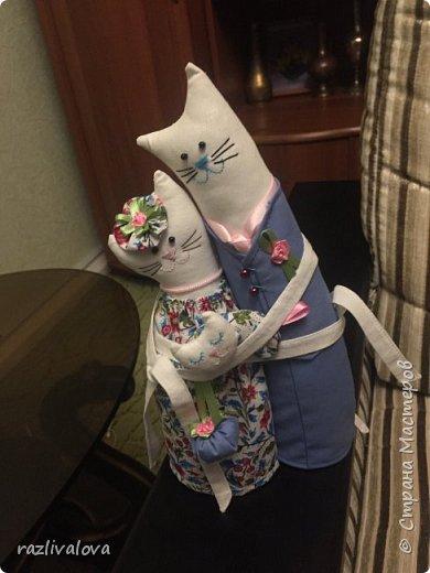 Коты-обнимашки ситцевые