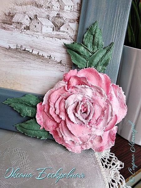 Всем доброго время суток! Сегодня, как обещала, выложу свои розы. Техника скульптурная живопись.  Панно высота 29 см. фото 20