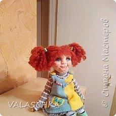 Такая куколка у меня появилась зимой. Крепление на шарнирах, вся одежда сшита мной вручную. фото 10