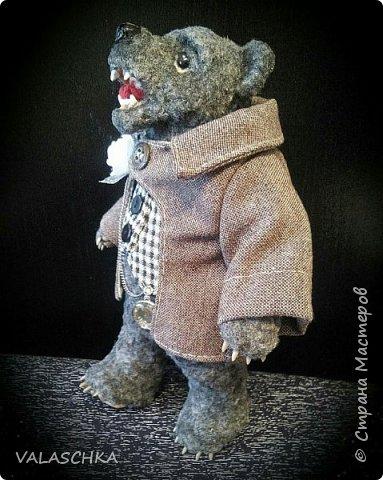 Представляю Вам моего первого сшитого мишку. Вся одежда тоже сшита вручную. фото 6