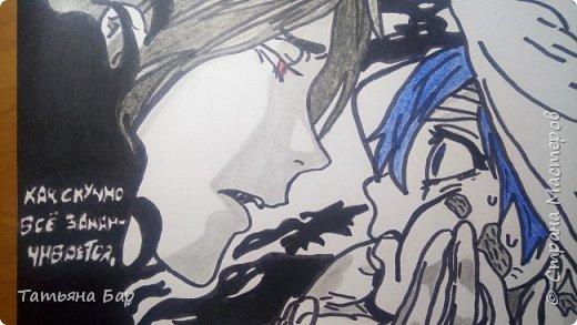 """Здравствуйте жители Страны Мастеров! В последнее время я сильно погрузилась в мир манги. Манга— японские комиксы. И я увлеклась одной из них """"Тёмный дворецкий"""". Автор этой манги Яна Тобосо. Всем советую её к прочтению, хорошо помогает провести время и приподнять настроение. фото 2"""