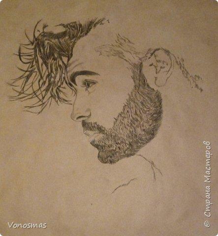Автопортрет (папиркрафт, уголь) фото 4