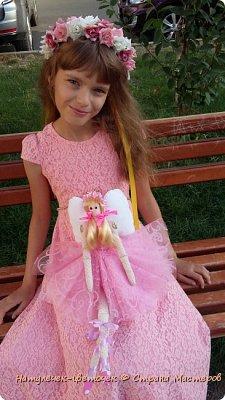 """Решила с дочками пока в отпуске начать работать над научно-исследовательским проектом. Который мы каждый год защищаем в школе. Но прежде чем его начать печатать ,нужно хоть что-то сделать. С младшей дочкой мы решили поработать над проектом """"игрушки Тильда"""". фото 10"""