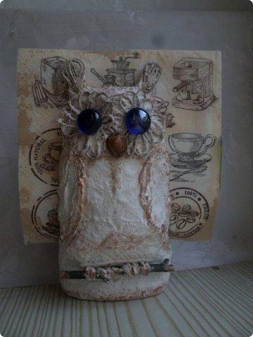 Всем жителям Волшебной Страны Мастеров огромный привет!!! Представляю Вашему вниманию 3 мастер-класса по изготовлению декоративных птичек и салыфетницы совы. Вот она красавица сова-вернее две совы))) фото 2