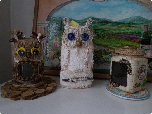 Всем жителям Волшебной Страны Мастеров огромный привет!!! Представляю Вашему вниманию 3 мастер-класса по изготовлению декоративных птичек и салыфетницы совы. Вот она красавица сова-вернее две совы))) фото 4