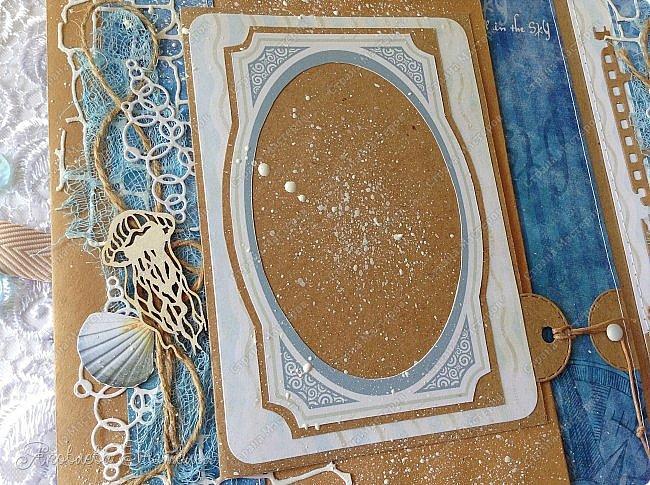 Приветствую всех, кто зашёл в гости! Я к вам с морским альбомом, который делала из замечательной коллекции от Bee  Shabby. Так же использовала чипборд, марлю, шпагат и вырубку. Приглашаю к просмотру.  фото 7
