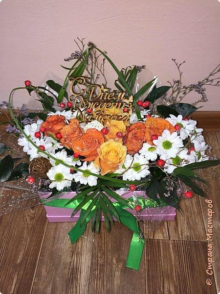 Цветы в коробке фото 1
