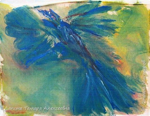 """Предлагаю, всем заглянувшим, посмотреть абстрактную живопись моих художников. Работали акрилом по материалу для жалюзи.  Краску растирали по материалу без определённой задумки, """"вычищая"""" краску с кисточки по ткани. Работа Агаты, 6л Вот что у ребят получилось. фото 7"""