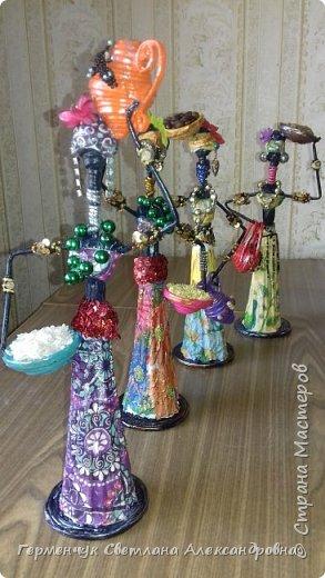 Добрый вечер, жители СМ  !!!  Предлагаю Вашему вниманию сувенирных   куколок- африканок.  Смастерила эти сувениры  своим   родным. фото 1