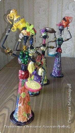 Добрый вечер, жители СМ  !!!  Предлагаю Вашему вниманию сувенирных   куколок- африканок.  Смастерила эти сувениры  своим   родным. фото 45