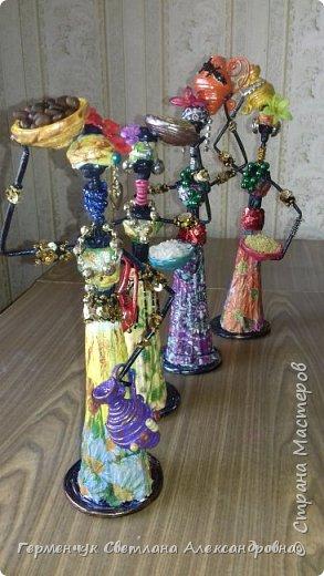 Добрый вечер, жители СМ  !!!  Предлагаю Вашему вниманию сувенирных   куколок- африканок.  Смастерила эти сувениры  своим   родным. фото 46