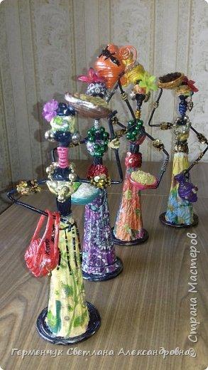 Добрый вечер, жители СМ  !!!  Предлагаю Вашему вниманию сувенирных   куколок- африканок.  Смастерила эти сувениры  своим   родным. фото 38