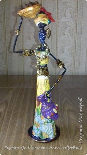 Добрый вечер, жители СМ  !!!  Предлагаю Вашему вниманию сувенирных   куколок- африканок.  Смастерила эти сувениры  своим   родным. фото 31