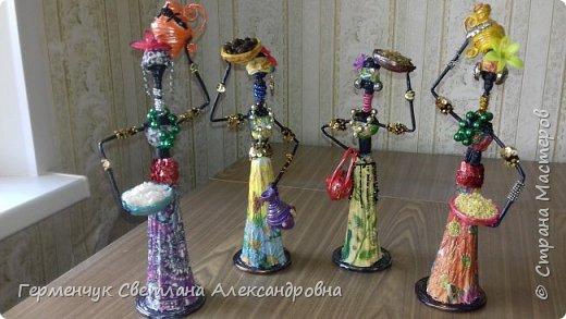 Добрый вечер, жители СМ  !!!  Предлагаю Вашему вниманию сувенирных   куколок- африканок.  Смастерила эти сувениры  своим   родным. фото 49