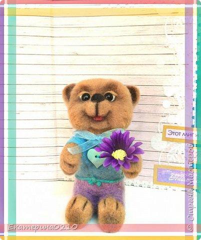 Мишка из шерсти  фото 2