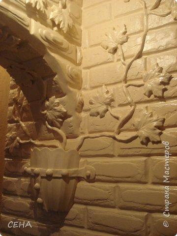 Декор стен(арка резная с элементами лепного декора из гипса) фото 8