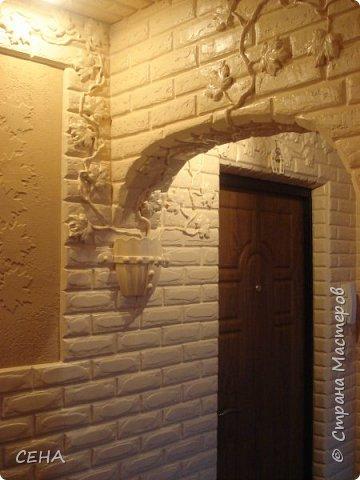 Декор стен(арка резная с элементами лепного декора из гипса) фото 7
