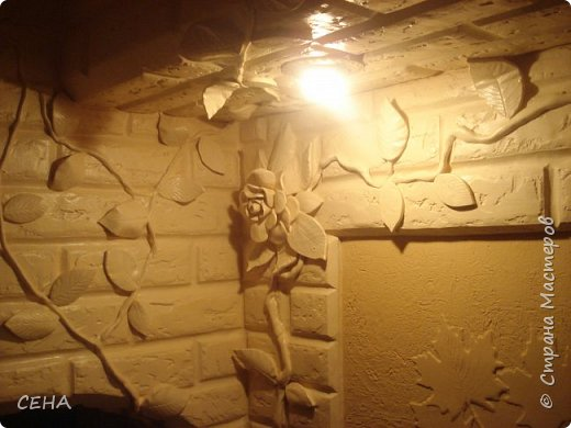 Декор стен(арка резная с элементами лепного декора из гипса) фото 3