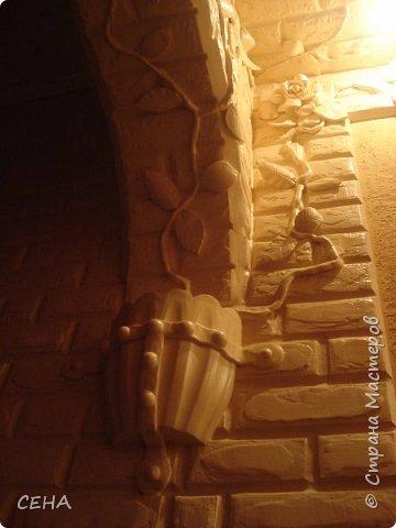 Декор стен(арка резная с элементами лепного декора из гипса) фото 2