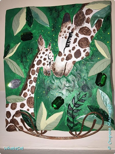 Жирафы из глины фото 1