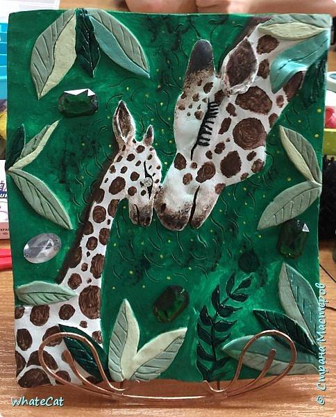 Жирафы из глины фото 2