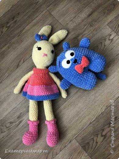 Заюшка и котик связаны деткам одной нереальной девушки =) умею быть благодарной =) фото 2