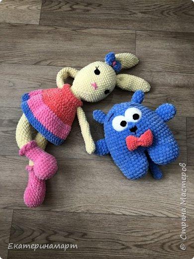 Заюшка и котик связаны деткам одной нереальной девушки =) умею быть благодарной =) фото 1