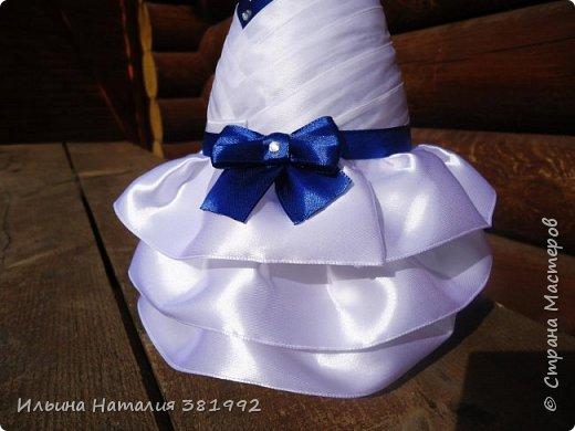 Свадебные бутылки в синем цвете фото 7