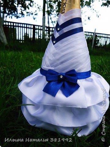 Свадебные бутылки в синем цвете фото 12