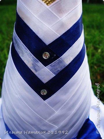 Свадебные бутылки в синем цвете фото 10